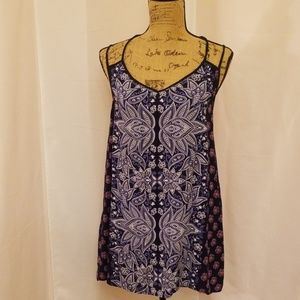 Angie blue paisley open back sundress O220:6:619